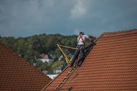 an actual roof installation process being performed