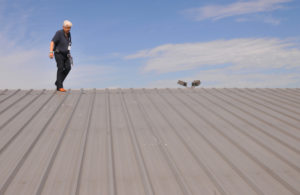 roof inspection in progress